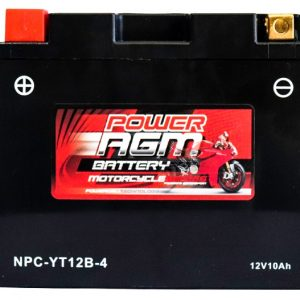 Power AGM NPC-YT12B-4 Motorcycle Battery front