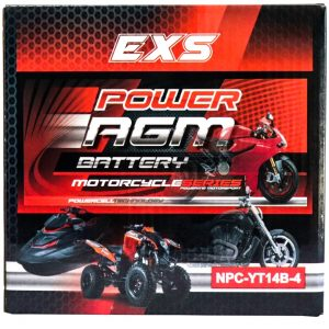 Power AGM NPC-YT14B-4 Motorcycle Battery retail