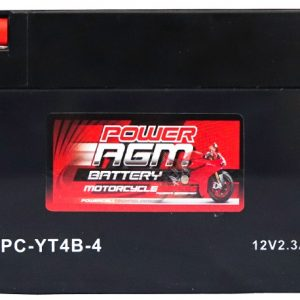 Power AGM NPC-YT4B-4 Motorcycle Battery front
