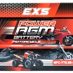Power AGM NPC-YT6.5B-3 Motorcycle Battery retail