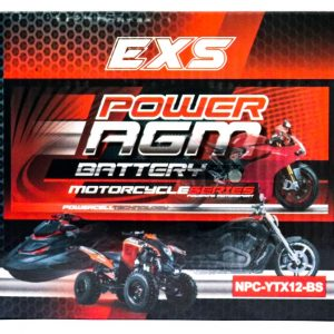 Power AGM NPC-YTX12-BS Motorcycle Battery retail