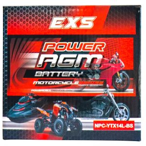 Power AGM NPC-YTX14L-BS Motorcycle Battery retail