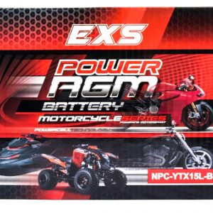 Power AGM NPC-YTX15L-BS Motorcycle Battery retail