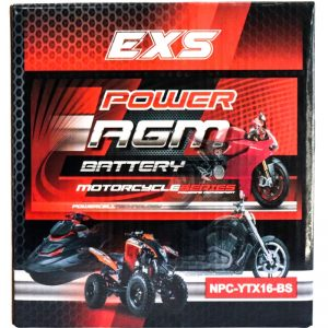 Power AGM NPC-YTX16-BS Motorcycle Battery retail