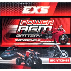 Power AGM NPC-YTX20-BS Motorcycle Battery retail