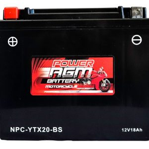 Power AGM NPC-YTX20-BS Motorcycle Battery front