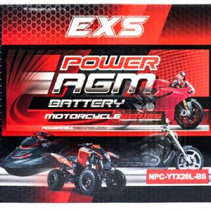 Power AGM NPC-YTX20L-BS Motorcycle Battery retail