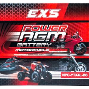 Power AGM NPC-YTX4L-BS Motorcycle Battery retail