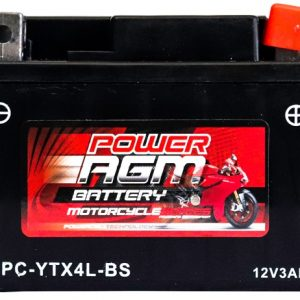 Power AGM NPC-YTX4L-BS Motorcycle Battery front