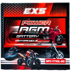 Power AGM NPC-YTX5L-BS Motorcycle Battery retail