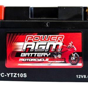 Power AGM NPC-YTZ10S Motorcycle Battery front