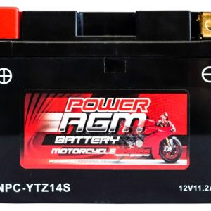 Power AGM NPC-YTZ14S Motorcycle Battery front