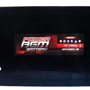 Power AGM NPC220-12 AGM Battery top