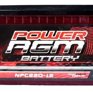Power AGM NPC220-12 AGM Battery front