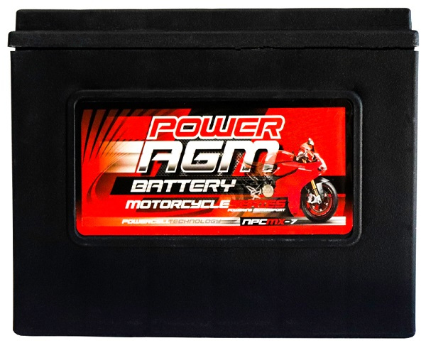 Power AGM NPC MX-7 Motorcycle Battery