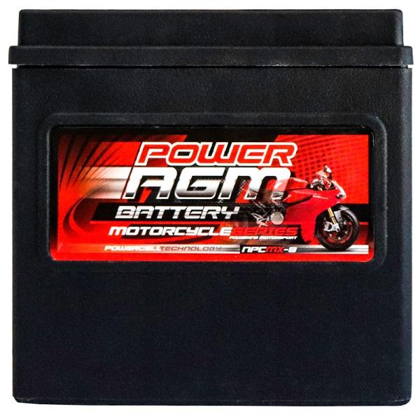 Power AGM NPC MX-8 Motorcycle Battery