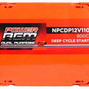Power AGM NPCDP12V110AH Dual Purpose Battery