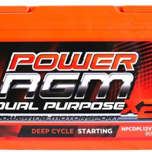 Power AGM NPCDPL12V110AH Dual Purpose Battery front