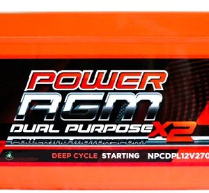 Power AGM NPCDPL12V270AH Dual Purpose Battery front
