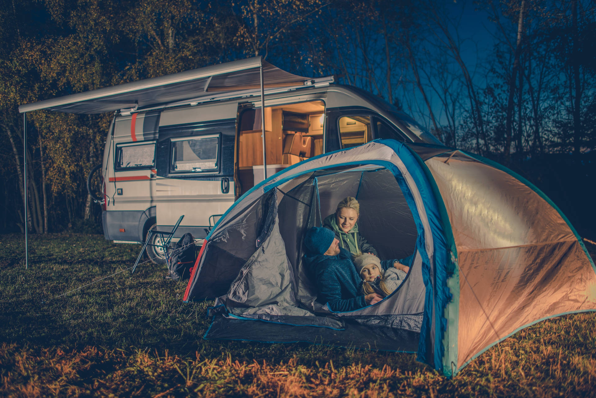 camping and solar batteries